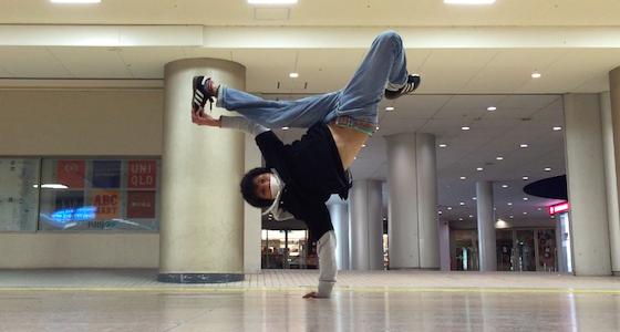 ブレイクダンスの技、ジョーダン。
