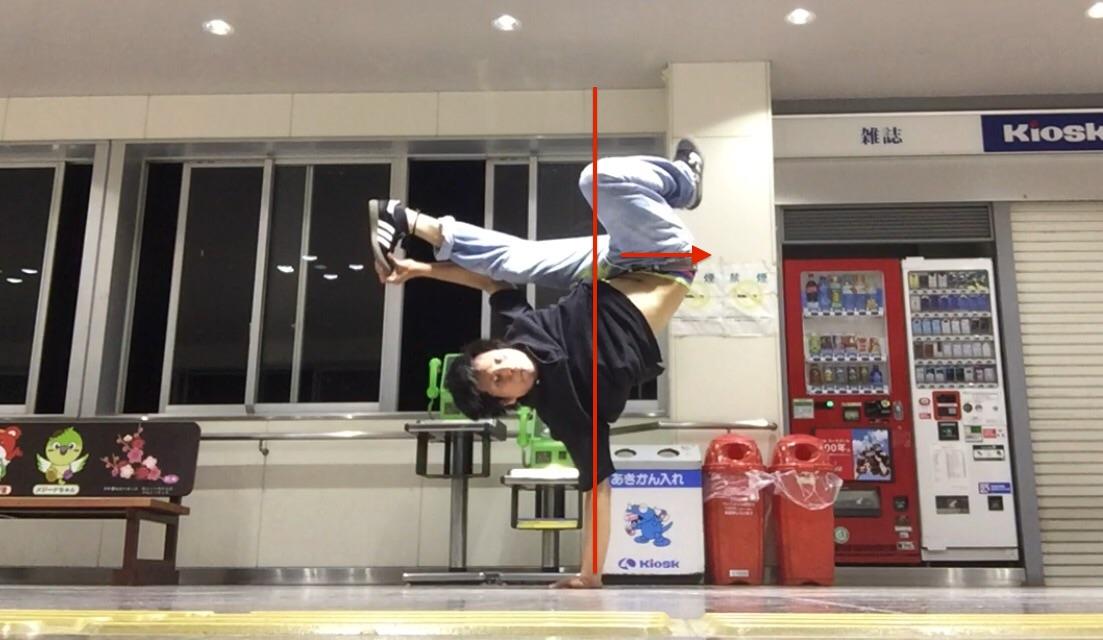 ジョーダンの時に脚を引きつけてバランスを取るための練習方法